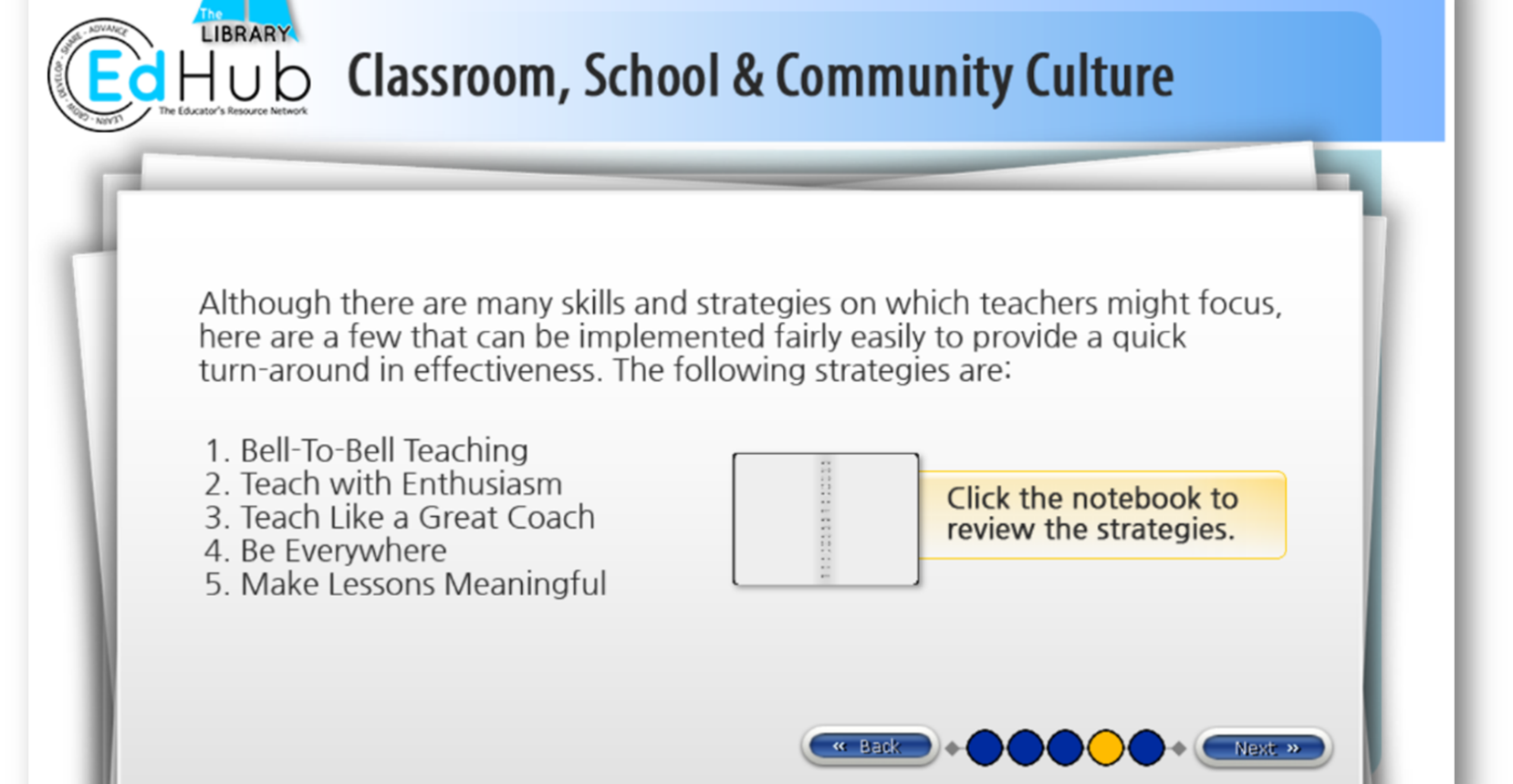 Educational Professional Development - EdHub example module