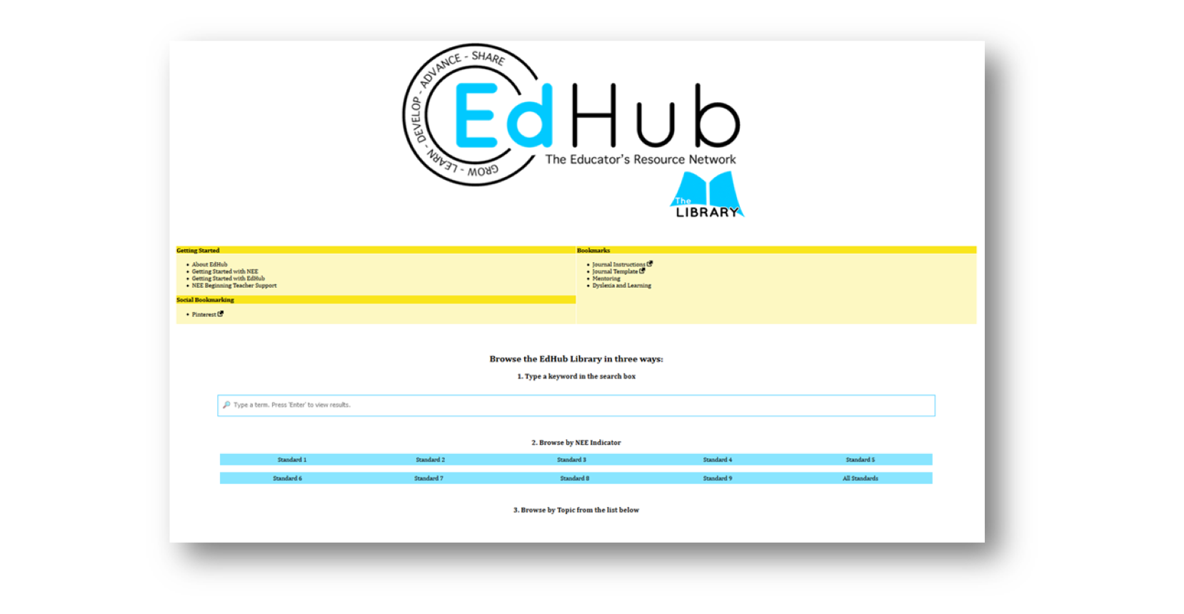 Educational Professional Development - EdHub