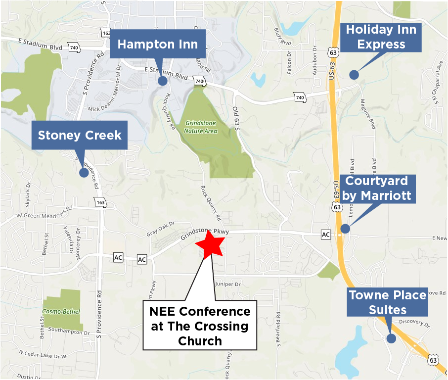 Hotel map for NEE conference