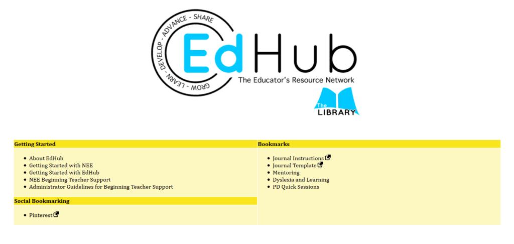 EdHub home screen