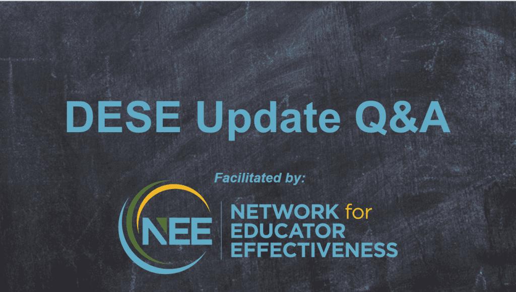 Title Card: DESE Update Q&A