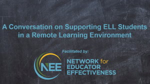 Title Card: Supporting ELL Students in a Remote Environment