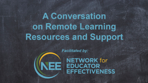Remote Learning title card