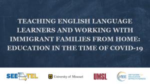 Title slide for Teaching English Learners webinar