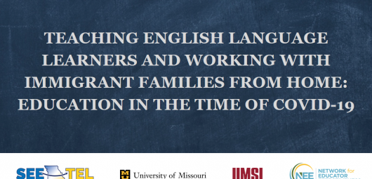 Title slide for Teaching English Learners webinar