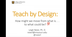 teach by design webinar slide