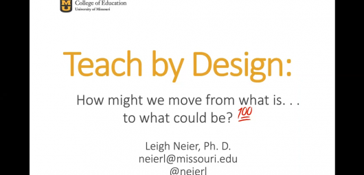 teach by design webinar slide