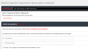 screen shot of district-specific indicator report in NEE Data Tool